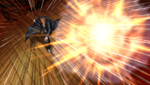 Danganronpa 1 CG - Mondo Owada throwing an exploding Monokuma