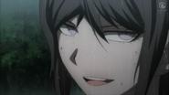 Despair Arc Episode 8 - Mukuro glaring challengingly at Peko