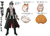 Danganronpa 2 Character Design Profile Gundham Tanaka (No Scarf)
