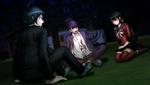 Danganronpa V3 CG - Kaito Momota Maki Harukawa and Shuichi Saihara talking outside (1)