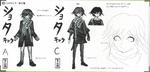 Art Book Scan Danganronpa V3 Character Designs Betas Kokichi Oma (3)