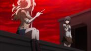 Despair Arc Episode 11 - Junko flicking a knife out