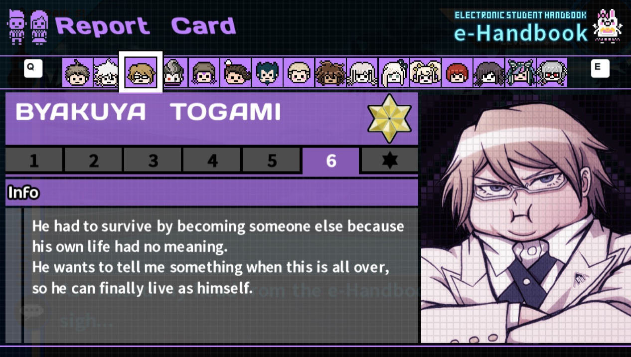 image ultimate imposter s report card page 6 jpeg danganronpa