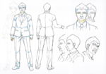 Danganronpa 3 Booklet - Design Sketches - Steering Committee Member (4)
