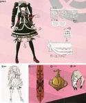 Danganronpa 1 Character Design Profile 1.2 Reload Artbook Celestia Ludenberg