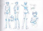 Danganronpa 3 - Character Profiles - Byakuya Togami (Sketches)