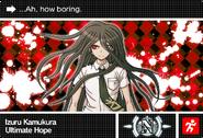 Danganronpa V3 Bonus Mode Card Izuru Kamukura N ENG