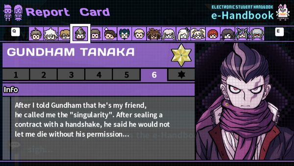 Gundham Tanaka's Report Card Page 6