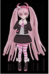 File:Kotoko Utsugi Fullbody 3D Model.png