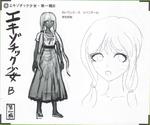 Art Book Scan Danganronpa V3 Character Designs Betas Angie Yonaga (2)