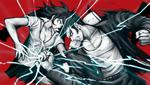 Danganronpa 2 CG - Nekomaru Nidai and Akane Owari sparring (6)