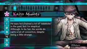 Kaito Momota Report Card Page 4 (For Shuichi)