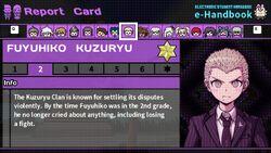 Fuyuhiko Kuzuryu's Report Card Page 2