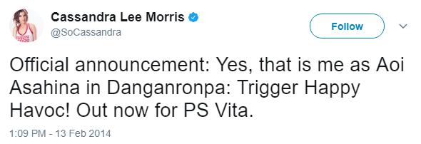 File:Danganronpa 1 Cassandra Lee Morris Aoi Asahina VA Tweet.png