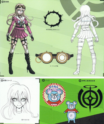 File:Art Book Scan Danganronpa V3 Miu Iruma Designs.png