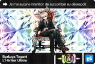 Danganronpa V3 Bonus Mode Card Byakuya Togami U FR