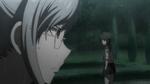 Despair Arc Episode 8 - Mukuro mockingly smiling at Peko