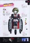 Danganronpa Another Episode Art Book Scan Monaca Towa Looking & Fashion
