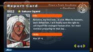 Sakura Ogami Report Card Page 6