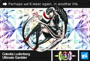 Danganronpa V3 Bonus Mode Card Celestia Ludenberg U ENG