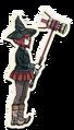 Danganronpa V3 Himiko Yumeno Death Road of Despair Sprite (Hammer) 01