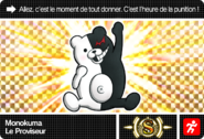Danganronpa V3 Bonus Mode Card Monokuma S FR