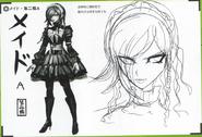 Art Book Scan Danganronpa V3 Character Designs Betas Kirumi Tojo (3)
