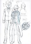 Danganronpa 3 - Character Profiles - Fuyuhiko Kuzuryu (Despair design sketches)
