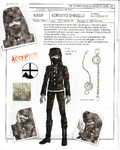 Danganronpa V3 - Day One Dossier Art Booklet - Korekiyo Shinguji