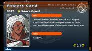 Sakura Ogami Report Card Page 2