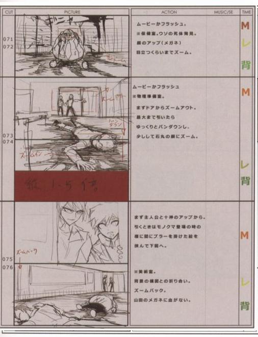 Danganronpa Visual Fanbook Cutscene Storyboards (06).png