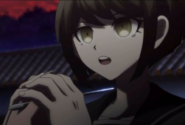 Komaru at Syo's sccisors
