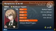 Byakuya Togami Report Card Page 1