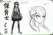 Art Book Scan Danganronpa V3 Character Designs Betas Maki Harukawa (5)