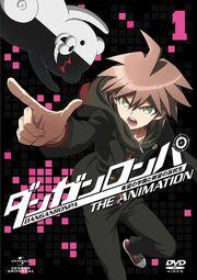 Monokuma and Makoto DVD cover vol 1