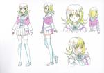 Danganronpa 3 - Character Profiles - Chiaki Nanami (Sketches)