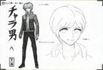 Art Book Scan Danganronpa V3 Character Designs Betas Rantaro Amami (1)