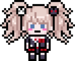 Danganronpa V3 Bonus Mode Junko Enoshima DR1 Pixel Sprite 01
