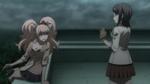 Despair Arc Episode 11 - Junko getting annoyed with Mukuro