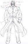 Danganronpa 3 - Character Profiles - Nekomaru Nidai (Despair design sketches)