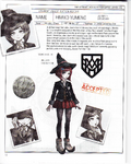 Danganronpa V3 - Day One Dossier Art Booklet - Himiko Yumeno
