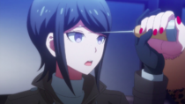 Despair Arc Episode 5 - Mukuro stopping Junko from stabbing her