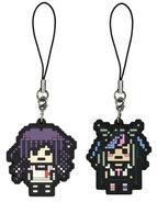 FuRyu Minna no Kuji Dot Rubber Mascots Mikan Tsumiki and Ibuki Mioda OOB