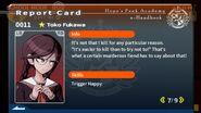 Toko Fukawa Report Card Page 7