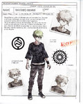Danganronpa V3 - Day One Dossier Art Booklet - Rantaro Amami
