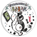 GraffArt Can Badge Monokuma