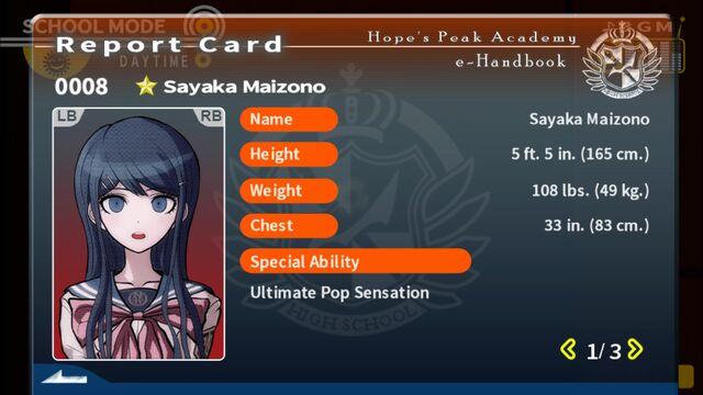 File:Sayaka Maizono Report Card Page 1.jpg