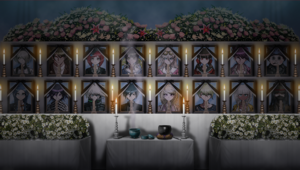 Danganronpa V3 CG - Mass funeral for the students