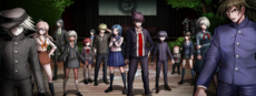 Danganronpa V3 CG - The Pre-Game students gathered in the gym