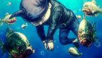 Danganronpa V3 CG - Ryoma Hoshi's corpse being eaten (1)